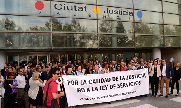 manifestacion procuradores valencia
