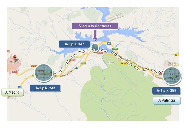 mapa-desvio-autovia-a3
