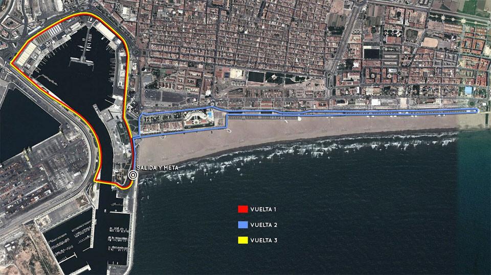 Recorrido del Pas Ras al Port de València.
