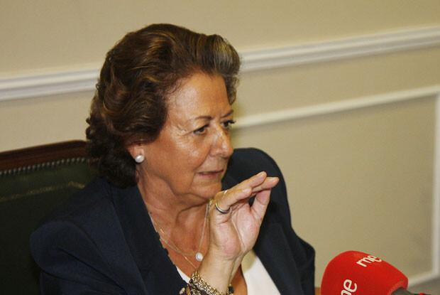 RIta Barberá comparece ante los medios de comunicación. Foto de archivo