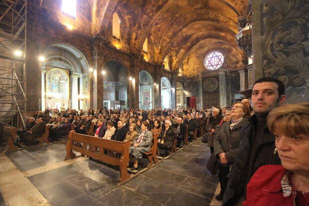 La parroquia de San Nicolás, repleta de fieles. Foto: Archicofradía de Valencia