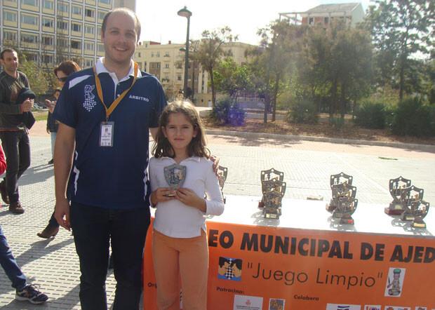 Sandra Mena del C.A. Ciutat Vella, una de las destacadas de la jornada.