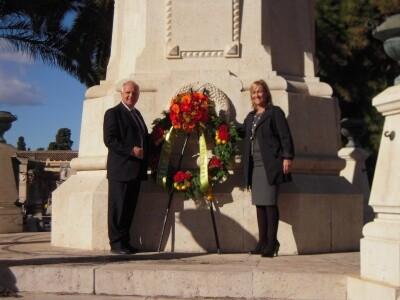 Homenaje Cruz del Cólera. Día de Tots Sants. 2010. Foto: A.P.R.S.