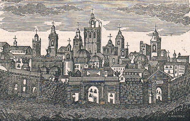 Imagen idealizada de Valencia. Grabado de 1857. A. P. R. S.