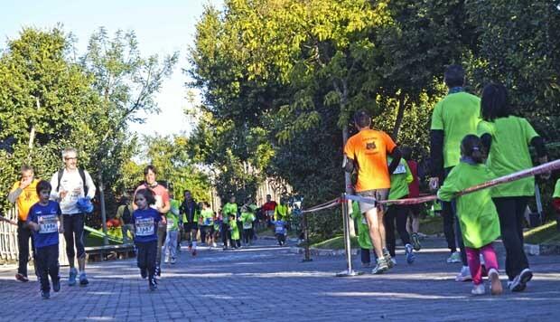 La carrera en Manada en el interior de Bioparc Valencia 24-11-13