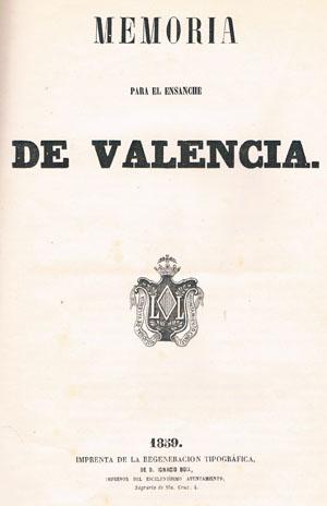 Memoria del proyecto de ensanche, 1858. E. P. R. S.