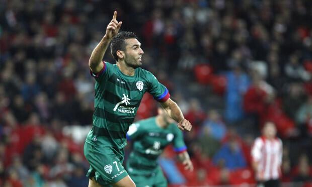 Barral marcó el gol del Levante UD. Foto: Jorge Ramírez / Levante UD