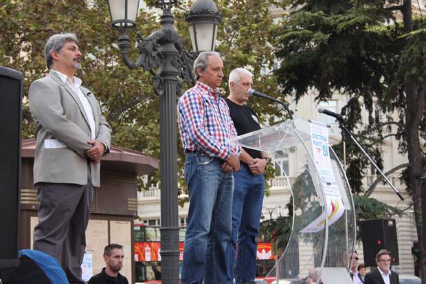 Minuto de silencio por las más de 800 víctimas de ETA y más de 300 casos sin resolver. Foto: Javier Furió