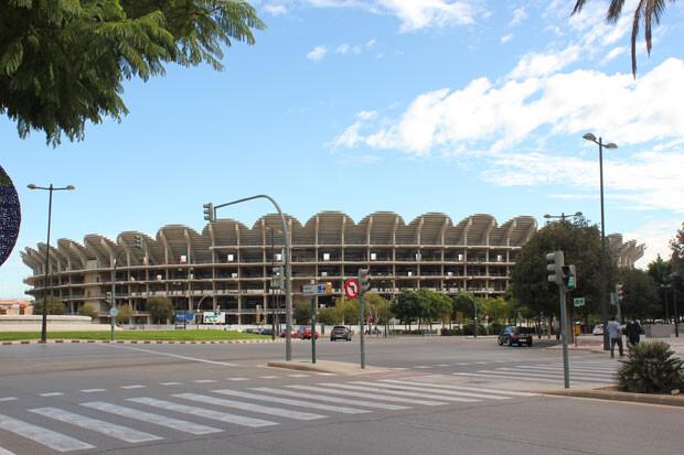 Nuevo Mestalla, 12 de noviembre al mediodía. Foto: Javier Furió
