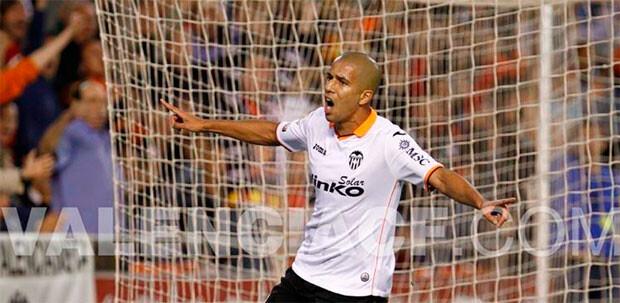 Feghouli marca el segundo para el Valencia CF. Foto: Valenciacf.com