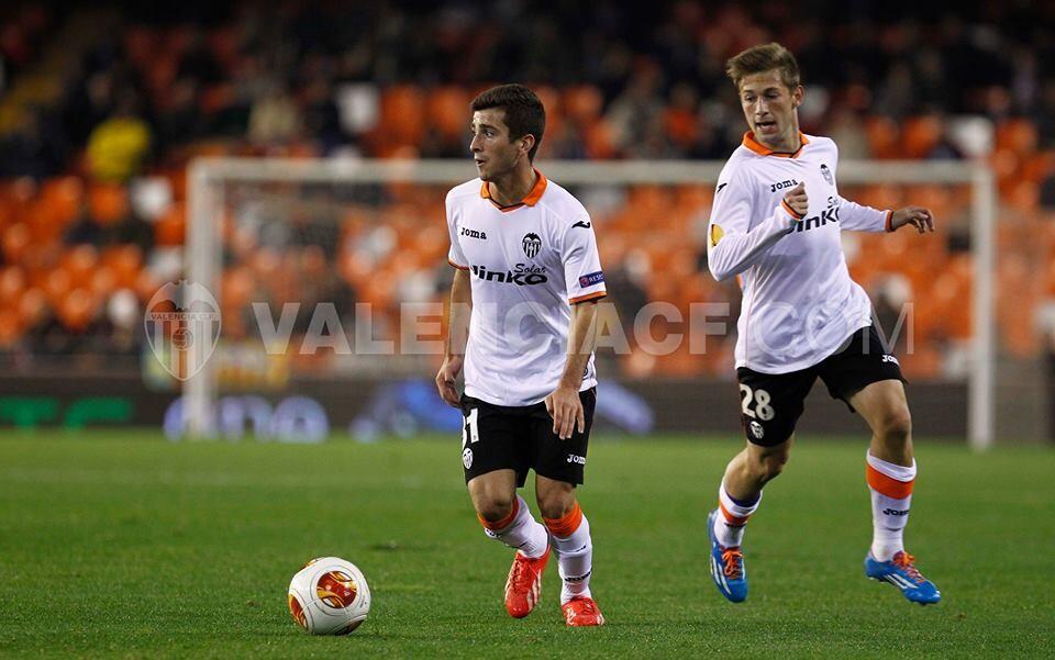 Gayá debutó con el Valencia CF en competición europea. Foto: VCF