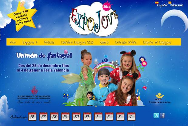 Web oficial de Expojove, expojove.com