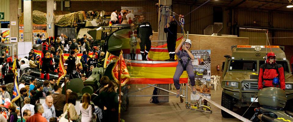 Presencia de las Fuerzas Armadas en pasadas ediciones de Expojove