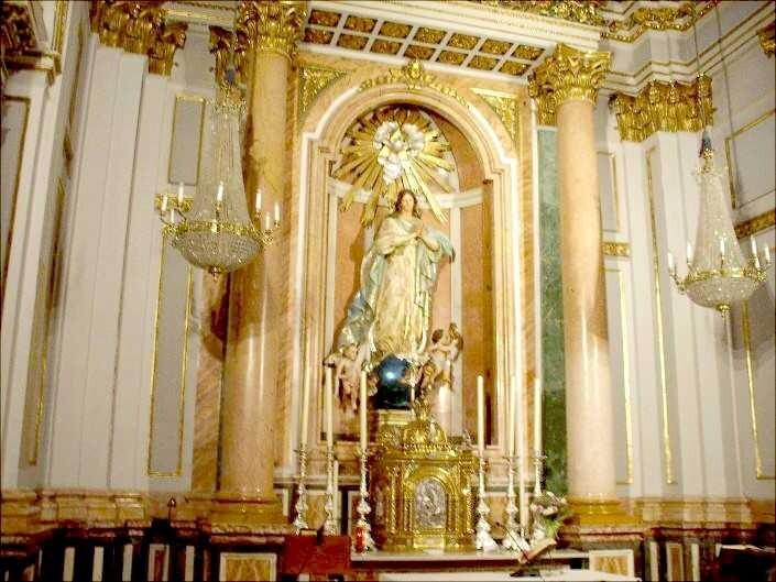 La Inmaculada Concepción, imagen de madera policromada de José Ponsoda en la Catedral de Valencia.