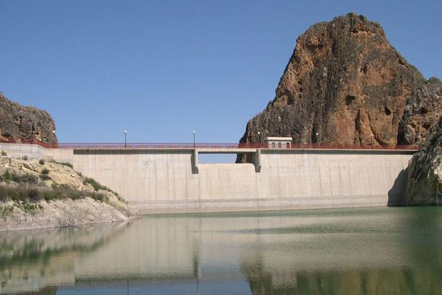 Embalse de El Cárcabo, en la Cuenca Hidrográfica del Segura.