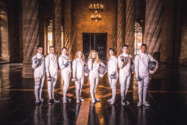 Equipos masculino y femenino de la Sala d'Armes València