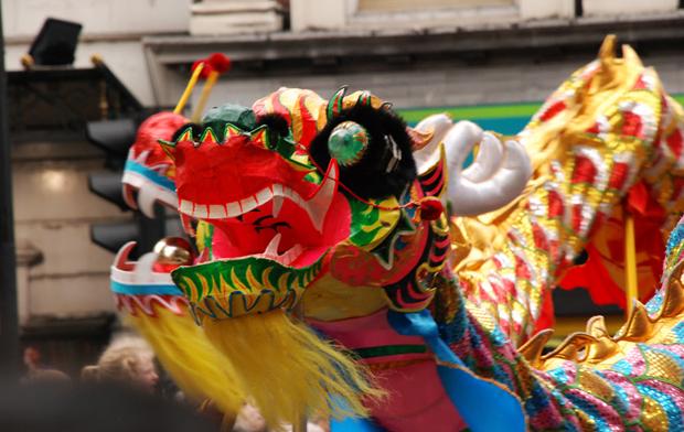 Celebración del Año Nuevo Chino el año pasado en Valencia. Foto de archivo