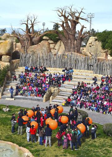 6-aniversario-de-Bioparc-Valencia-grupos-escolares-en-el-anfiteatro-28-2-14-(2)