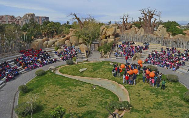 6-aniversario-de-Bioparc-Valencia-grupos-escolares-en-el-anfiteatro-28-2-14