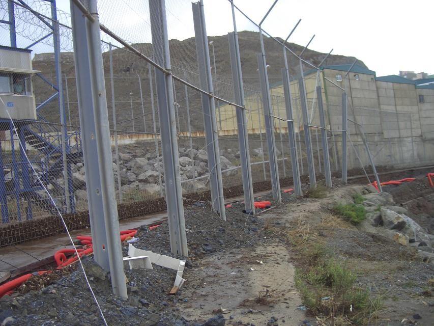 vallado perimetral de la frontera de España con Marruecos
