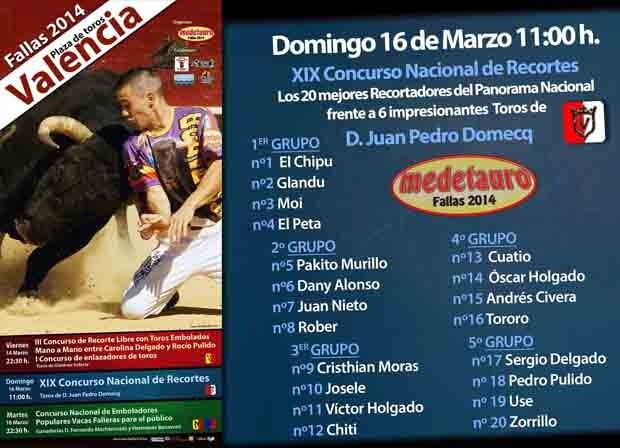 Fallas 2014. Medetauro. Grupos XIX Concurso Nacional de Recortes.
