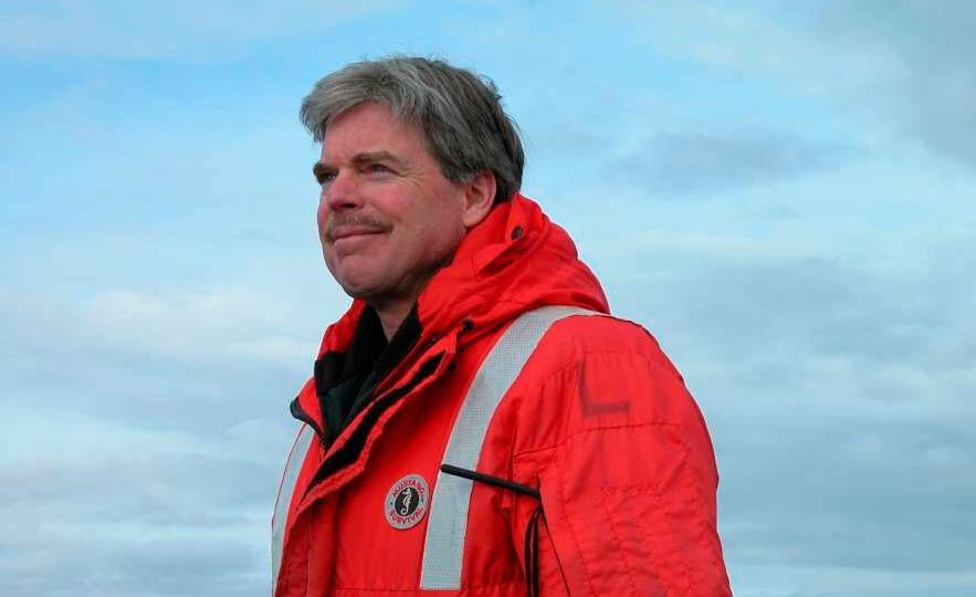 Jim McClintock en la Antártida.