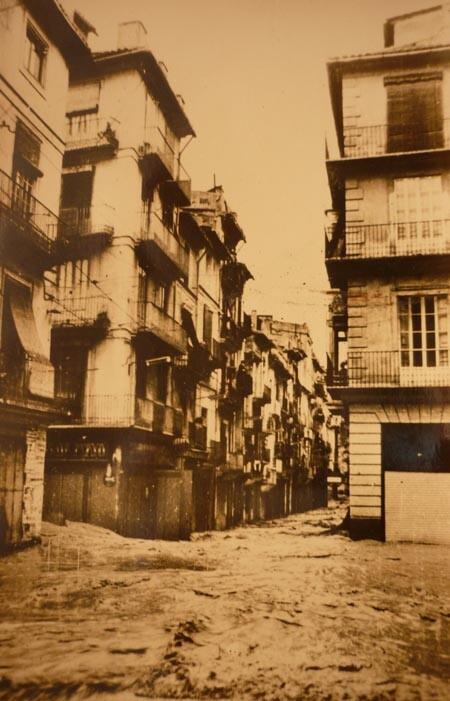 Plaza del Tossal. Riada de 1957. A. P. R. S.