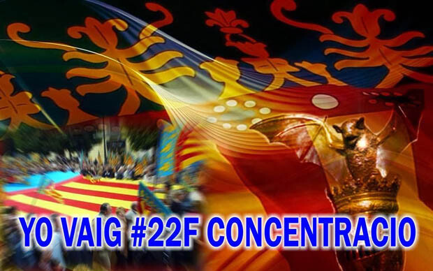 Imagen con el lema 'YoVaig #22F Concentració' con la que se está difundiendo la convocatoria.