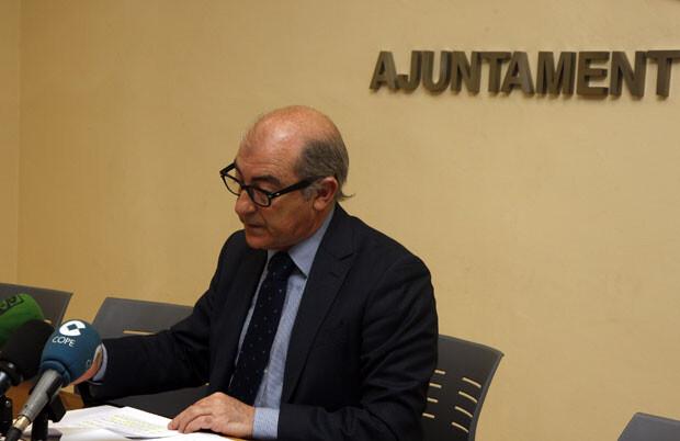Alfonso Novo, en rueda de prensa tras la Junta de Gobierno del Ayuntamiento de Valencia. Foto: Pepe Sapena / Ayto. Valencia
