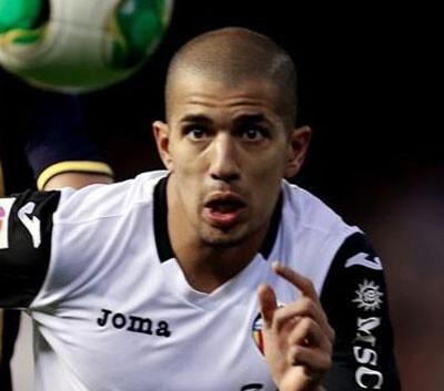 Feghouli, magistral con dos asistencias de gol en el Camp Nou. Foto: VCF