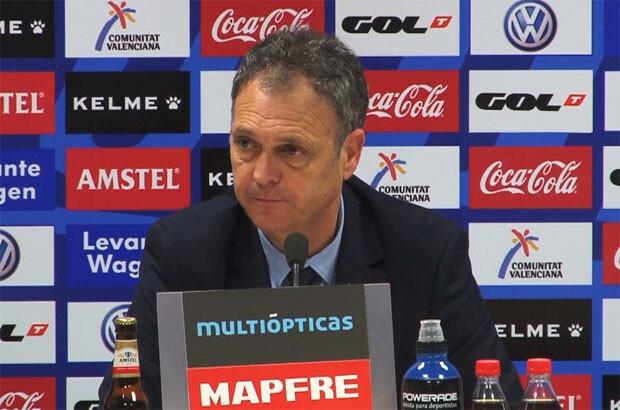 Caparrós daba por bueno el empate en la rueda de prensa post partido. Foto: Levante UD