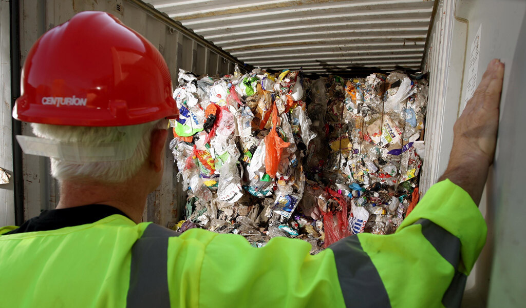 Household rubbish sent to Brazil