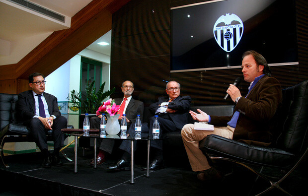 Miquel Nadal (historiador), Eduardo Cubells hijo, Luis Casanova hijo y Josep Bosch (historiador)