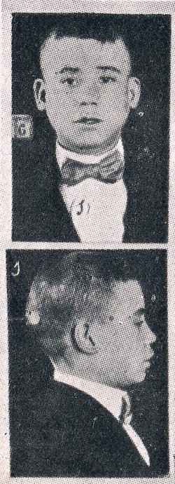 Carterista El Vidita. Ficha policial 1915. A. P. R. S.