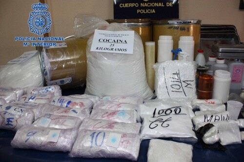 Desmantelado un laboratorio de cocaína