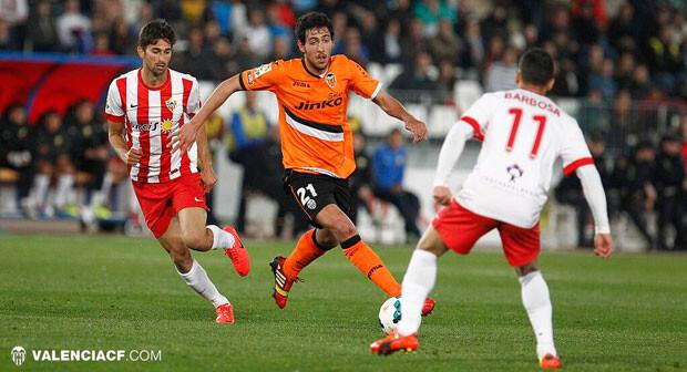 Parejo estuvo a punto de marcar el tercero del Valencia CF. Foto: VCF