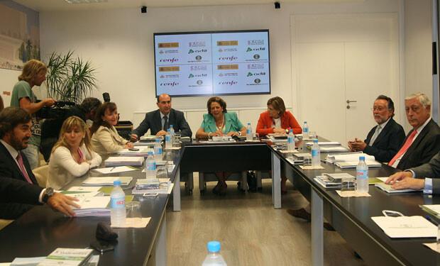sala de la estación del AVE Joaquín Sorolla donde se celebró la primera reunión en dos años del Consejo de Administración de la Sociedad Parque Central. Foto: Ayto. Valencia