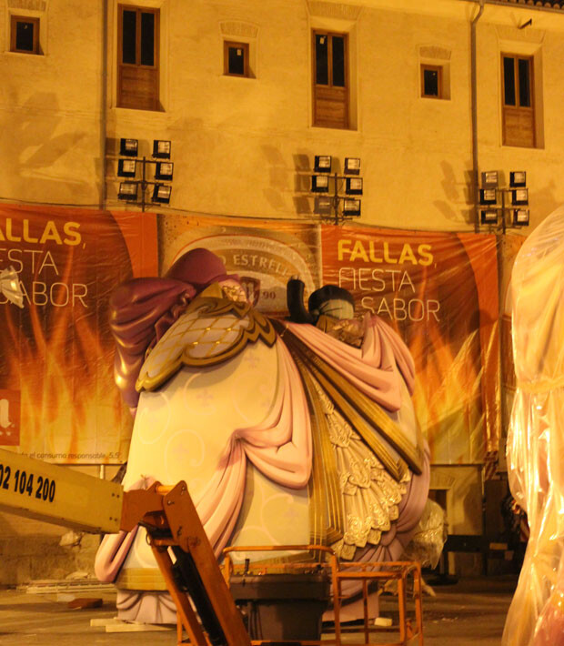 Falla plaza del Pilar, 8 de marzo 2014