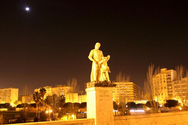 Monumento a San José, en el puente del mismo nombre. 8 de marzo 2014