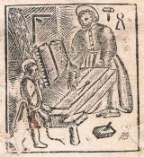 Grabado San José carpintero. Valencia, 1619. A. P. R. S. = Archivo Privado Rafael Solaz