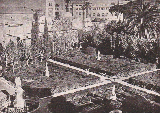 Jardines de Monforte. Ca. 1940. A. P. R. S.