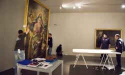 Montaje de la exposición Patrimonio de la Diputació de Valencia en el MuVIM. Foto: Abulaila