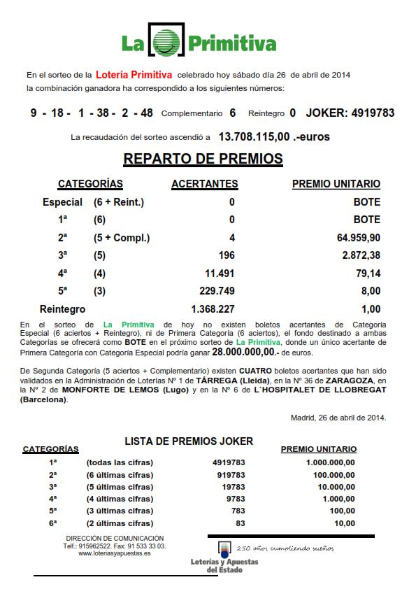 NOTA_DE_PRENSA_DE_LA_PRIMITIVA_DEL SABADO _26_04_14_001