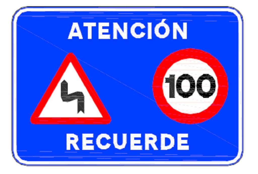 Nuevo cartel de refuerzo de señalización de código de circulación