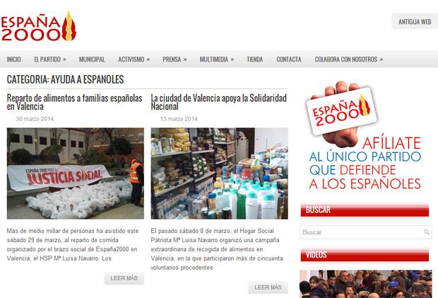 La web oficial de España 200 tiene una sección titulada directamente 'Ayuda a Españoles', en la que se informa sobre el reparto llevado a cabo en Orriols.