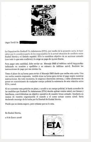 cartas falsas de eta