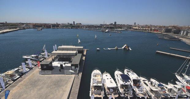Superficie para el local de ocio en la Marina Real de Valencia.