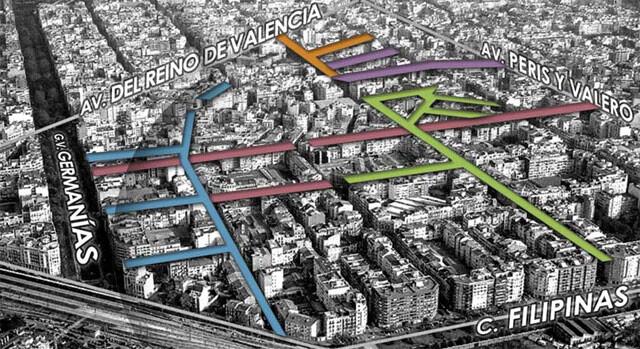Proyecto de reforma integral del barrio de Ruzafa.