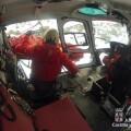 Grupo Salvamento de @Jcyl rescató ayer a un montañero lesionado en Gredos