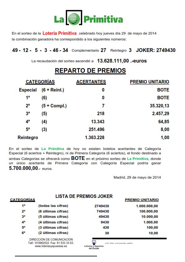 NOTA_DE_PRENSA_DE_LA_PRIMITIVA_DEL_JUEVES _29_05_14_001